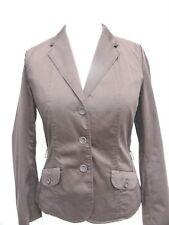 MARC CAIN MARCCAIN Gorgeous Brown Cotton Silk Blend Detailed JACKET SZ: N4