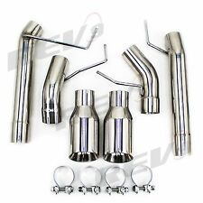 """For Mustang 05-10 V8 GT/GT500 2.5"""" Dual Axle Back FlowMaxx Exhaust Straight Pipe"""