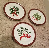 "Sakura HOLIDAY GREENS 8 3/8"" Salad Plates (3 designs)"