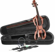 Lucky Penny EVX/VBR Violin Brown 4/4 silent violin electric violin Bundle