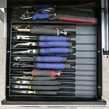 "11 Pliers Organizer Box Store Tool Sorter Tray Compact Chest Drawers 12"" x 10"""