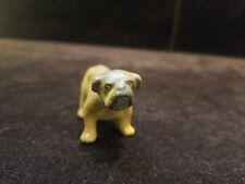 Antique Vintage Italy Miniature Paper Mache Bulldog Figurine