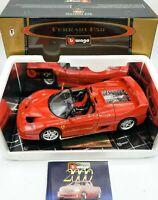 Burago GOLD Collection 1995 Ferrari F50 1/24 Scale Red Model Car NIB ITALY