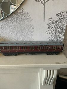 O Gauge LMS Period 2 3rd class Brake Carriage Fully Lined , Seats , Built Kit