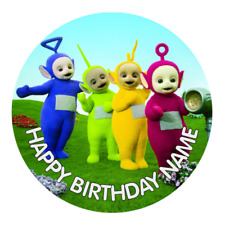 Teletubbies Personalised Edible Birthday kids Party Cake Decoration Topper Image