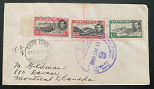 1949 Ascension Cover To Montreal Canada Via Cape Town