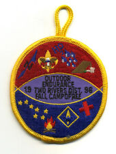 Two Rivers District Fall Camporee 1996 Boy Scout Patch  Outdoor Endurance