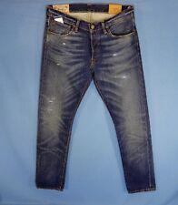Men's 34x32 Polo Ralph Lauren Button Fly Sulivan Slim Blue Jeans Size  34 x 32