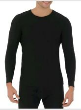 Fruit of the Loom Men's Classic Crew Top Thermal Underwear Black Size XL NWOT