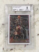 🔥 2003 2004 03-04 Topps Chrome Lebron James #111 ROOKIE RC Beckett BGS 8 9.5 X2