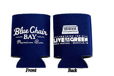 Live on the Green Blue Chair Bay Rum Beer Can Huggie Koolie Kenny Chesney