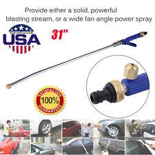 """Garden Hose High Pressure Spray Wand Power Washer &Brass Twist Nozzle Car 31"""" BP"""