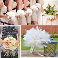 """10Pcs 6""""~16"""" Ostrich Feathers Plume Crafts Event DIY Wedding Party Decorations"""