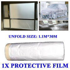 1X Clear Paint Plastic Protective Masking Film Roll Sheet Car & Furniture Cover