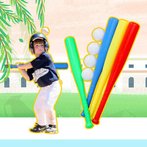 4 Sets Plastic Baseball Bat Kit with Baseball Toy for Chindren Outdoor Sport USA