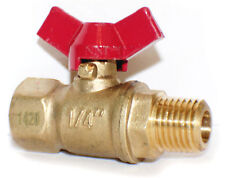 "1/4"" Female x Male NPT Mini Ball Valve T HANDLE Full Port, 600 WOG 100-399TH"