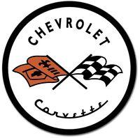 "Corvette Historic Vintage Logo 12"" Round Metal Tin Sign Chevrolet Wall Decor New"