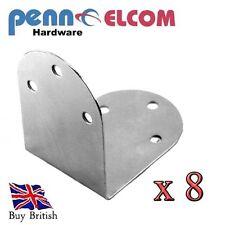 PENN ELCOM 6 Hole Corner Braces for flightcases and furniture x 8