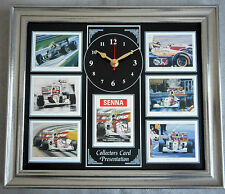 Aryton Senna Stunning Collector Cards Wall Clock
