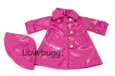 Hot Pink Raincoat and Hat for American Girl 18 inch Doll Clothes LOVV LOVVBUGG!