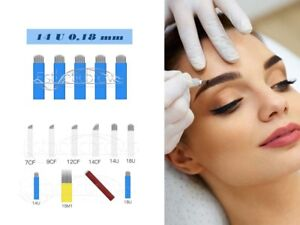 Microblading Permanent make up pmu  Blades/Nadeln/Needles 14 U 0,18mm 10 Stück