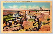 Famous Sinking Farm in Salmon Canyon Southern Idaho Buhl Postcard Unused New