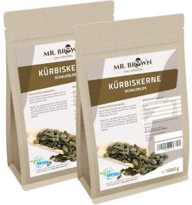 Kürbiskerne ShineSkin 2 kg OHNE Schale Kerne 2000g geschält (9,98 EUR/kg)