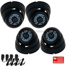 4 Security Camera Wide Angle 600TVL Outdoor IR Day Night with Sony CCD Power W23