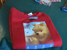 Walt Disney xxl sweat shirt red with Winne the pooh on front