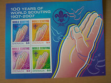 GRENADA,100 YEARS OF SCOUTING,U/M M/SHEET,CAT £6.EXCELLENT.