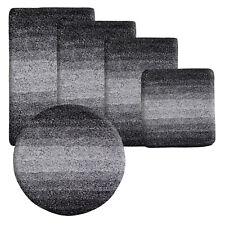 Deep Pile Soft Bathroom Rug Anti Non Slip Extra Thick Bath Floor Mat Runner Black 100c M (round)