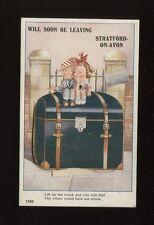 Warwks Warwickshire STRATFORD-ON-AVON Novelty Flap Trunk children PPC 1920/30s