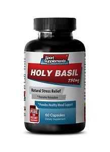 Tulsi Powder - Holy Basil Extract 750mg - Anti-Bacterial & Anti-Fungal Pills 1B