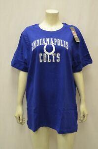Indianapolis Colts NFL Women's Team Print Tee Blue Plus Sz 1X 2X 160622RM