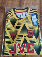 ARSENAL 91-93 AWAY FOOTBALL SHIRT JERSEY Bruised Banana SIZE S 100% AUTHENTIC