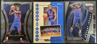 Lot of (3) Sekou Doumbouya, Including Select Premiere RC, Prizm/Hoops RC insert