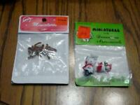 (4) VINTAGE Christmas Miniatures - Decoration & Ornament -Reindeer, Snowman, Etc