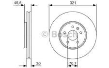 1x BOSCH Disco de freno delantero Ventilado 321mm Para OPEL ASTRA 0 986 479 667