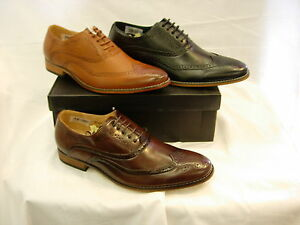 M14 TAN BLACK BROWN LACE UP LEATHER-LINED BROGUE  SHOE  SIZE 5 6 7 8 9 10 11 12