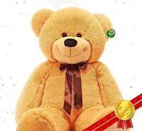 "New 56''/140cm Light Brown""Teddy Bear Giant Huge Big Stuffed Plush Soft+Ems Ship"
