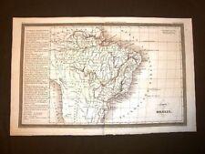 Carta geografica mappa Dufour del 1840 Impero del Brasile - Empire of Brazil