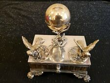 L. Miden Silver Plate Co. Antique  Inkwell