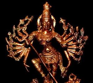 Goddess Durga Idol In Pure Copper