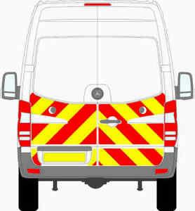 MERCEDES SPRINTER VAN 2009-2018 1/2CHEVRON KIT ENGINEERING GRADE REFLECTIVE
