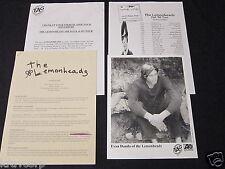 THE LEMONHEADS 'CAR BUTTON CLOTH' 1996 PRESS KIT--PHOTO