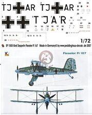 Peddinghaus 1/72 Fieseler Fi 167 A-0 Markings Erpr.Gr.167 for Graf Zeppelin 1505