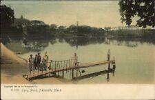 Falmouth Cape Cod Ma Dock at Long Pond c1910 Postcard