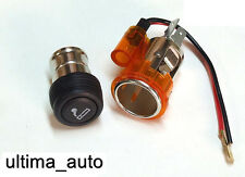 AMBER/ORANGE CIGARETTE LIGHTER & SOCKET FOR MITSUBISHI PAJERO COLT LANCER L200