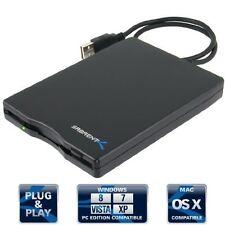 Slim & Lightweight Case External USB 1.44 MB 2x Floppy Disk Drive by Sabrent