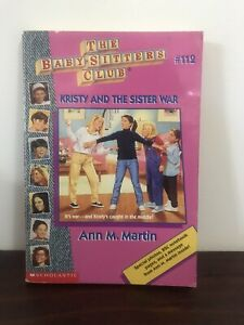 The Baby-Sitters Club. Vintage book #112 Kristy and the Sister War